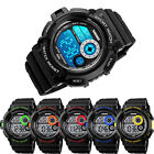 SKMEI S-shock Mens Waterproof Digital LCD Light Alarm Date Sport Army Wristwatch image