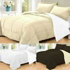 3 PC Goose Down Alternative  Polyester Filled Reversible Comforter Sham New image