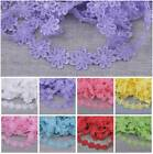 1/5Yard Vintage Flower Lace Edge Trim Embroidered Fabric Sewing Applique Trim