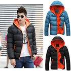 NEW Men's Slim Casual Warm Jacket Hooded Winter Thick Coat Parka Overcoat Hoodie