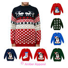 NEW CHILDRENS WINTER JUNIOR XMAS KIDS PENGUIN SNOWMAN JUMPER KNITTED SWEATER
