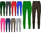 Girls Plain Full Length Legging Age 2-13 Stretchy Dance Gymnastics Plays Theatre