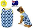 Dog Singlet Sun Protection 40+ Blue Whale XS S M L- Chihuahua Puppy Pet T Shirt