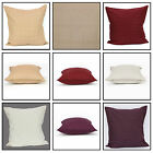 "Jacquard Cushion Cover 100% Cotton Decorative Pillowcase 20x20 & 28x28"" with Zip"