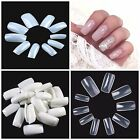 FULL COVER Press On Nail Tips **YOU CHOOSE!** Natural, Clear & White