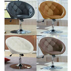 Living Room Accent Chair Leather Round Back Modern Furniture Kitchen Bar Salon