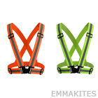NEW High Visibility Reflective Safety Belt Jacket Running Jogging Cycling Vest