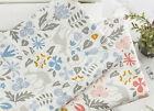 Flower deer 100% Cotton Fabric BY HALF YARD Forest animal floral pastel JC2/17+