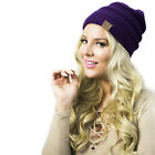 Women's Soft Stretchable Cable Knit Snowboard Beanie Winter Cap Fashion Headwear