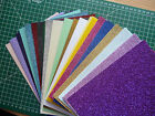 10 x A5 sheets Fixed Glitter card Low shed+mix pack you choose-23 lovely colours