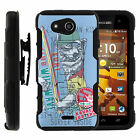 For Kyocera Hydro Wave C6740 Armor Holster Clip Case Camo Designs