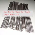 "Wire Dia 0.3,0.4,0.5mm OD 2-10mm L:11.8"" Steel Helical Compression Spring Select"