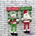 Christmas Decorations Welcome Snowman Santa Claus Door Hanging Party Ornaments