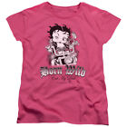 Betty Boop Cartoon Comic Icon Born Wild Eat My Dust Biker Betty Women's T-Shirt $21.95 USD on eBay