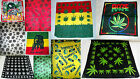 100% Cotton Weed Ganja Leaf Reggae Bob Marley Bandanna Scarf Select Choice