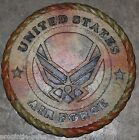"U.S. AIRFORCE - Embossed Mantle Plaque (Camo)- NEW-11"" X 1""- Made in USA"
