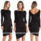 Rare Womens Fashion Low Back Party Celeb Mini Swing Bodycon Backless Dress