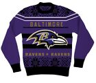 NFL Baltimore Ravens Logo Adult Purple Football Ugly Christmas Sweater $8.0 USD on eBay