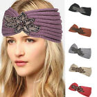 Bling Head wrap , Headband! Beautiful Ribbed Knit w/Jeweled Bling hb1973