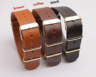 20MM Watch Band Strap Golden buckle Imitation Leather Watchbands