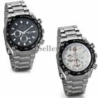 Fashion Stainless Steel Band Luxury Sport Date Analog Quartz Mens Wrist Watch