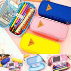 School College Student Canvas Pen Bag Pencil Case Cosmetic Travel Makeup Bags