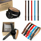 Long Genuine Leather Watch Band Double Tour Bracelet Buckle for Moto 360 2nd MS