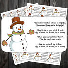 65 Snowman Soup Labels Tags Christmas fair fundraiser charity #aac