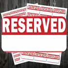 Bright Red RESERVED Stickers / Swing Tag Sticky Labels #acp
