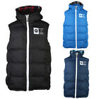 MENS RAWCRAFT BEATLE DOUBLE ZIP UP GILET HOODED SLEVELESS BODYWARMER SIZES S-XXL