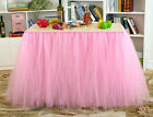 Tutu Tulle Table Skirt Princess Ballerina Party Baby Shower Wedding Decorations