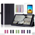 """Slim Leather Case Cover+Gift For 10.1"""" DigiLand DL1008M Tablet DZB"""