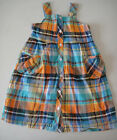 Gymboree NWT TROPICAL BLOOM Plaid Sun Tank Dress Button up Blue Orange 6 7