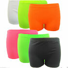 Women's Girls Sexy Neon Colour Lycra Stretchy Sexy Hot Pants Dance Party Shorts
