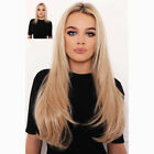 Long Straight Halo 100% Invisible Wire Filp in 100% Human Hair Extensions 80g