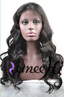 Remeehi soft natural wavy 100% Brizilian remy human hair full/front lace wig