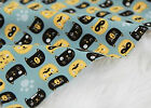 Cat friends 100% COTTON FABRIC black cats Quilting by half yard ff258=