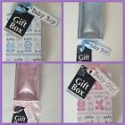 GIFT BOX BLUE PINK BOY GIRL BABY SHOWER CHRISTENING BIRTHDAY PRESENT NEW