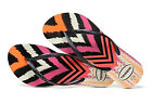 Havaianas Women`s Flip Flops Slim Tribal Sandals White with Black Sizes 5-12 NWT