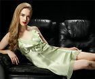 Sexy Holiday Gift!  Womens Satin Silk Pajamas Slip Lingerie Nightgown US SELLER