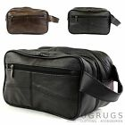Men's Leather Toiletries / Travel / Holiday / Over Night / Weekend Wash Bag
