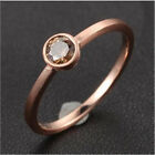 Sienna Brown Diamonds Solid 14K Rose Gold Solitaire Engagement Wedding Band Ring