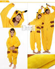 Pokemon Picacho Cute Jumpsuit Pajamas Clothing Costume Cosplay XS S M L