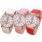 New Fashion Leather Anchor GENEVA Watches Women Women Lady Personality Hot