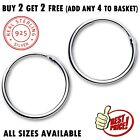 925 sterling silver hoop sleeper earrings 8 70mm small large ring set nose solid