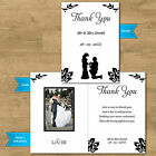 Double Sided & Folded Wedding Photo Thank You Cards - Proposing Groom 12 Colours