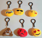 MINI 110mm Emoji Emotions Plush Soft Toy KEYRING Clip On Pillow BAG CHARM Gift