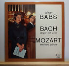 SIGNED by Alice Babs - Bach / Mozart LP Swedish Society SLT 33170