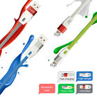 For iPhone Laixi Aluminium Case 3FT Flat Noodle USB Sync Data Charger Cable 8Pin