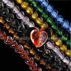 1 Strand Colorful Crystal Glass Faceted Heart Loose Beads fit Necklace Bracelet